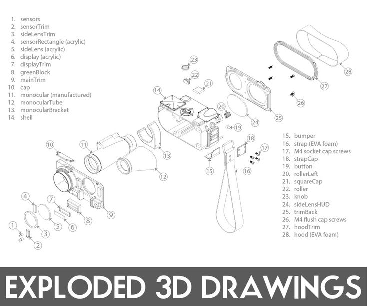 Easy Exploded 3D Drawings