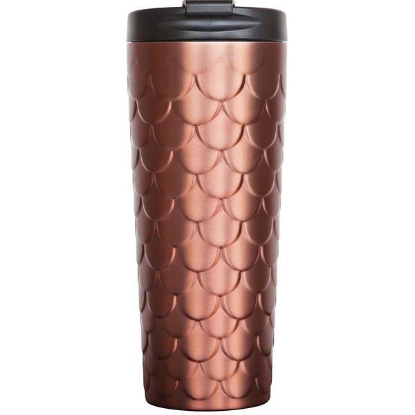 Holiday 2017 Starbucks Stainless Steel Tumbler -Copper Mermaid Scales... (87 PEN) ❤ liked on Polyvore featuring home, kitchen & dining, drinkware, everyday drinkware, stainless tumbler, stainless steel drinkware, stainless steel tumbler and copper tumbler