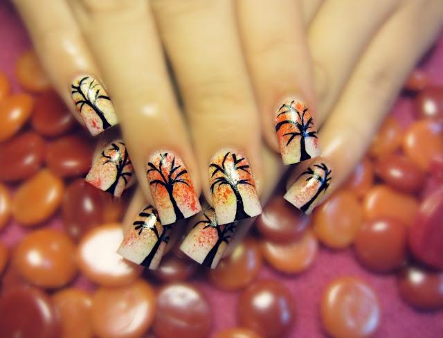 DIY halloween nails: DIY Halloween nail art : Latest-Fall-Nail-Art-Designs -Trends-Ideas-For-Girls - 51 Best Fall/Autumn Nails Images On Pinterest Autumn Nails, Fall