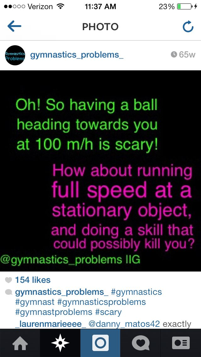People never understand gymnastics