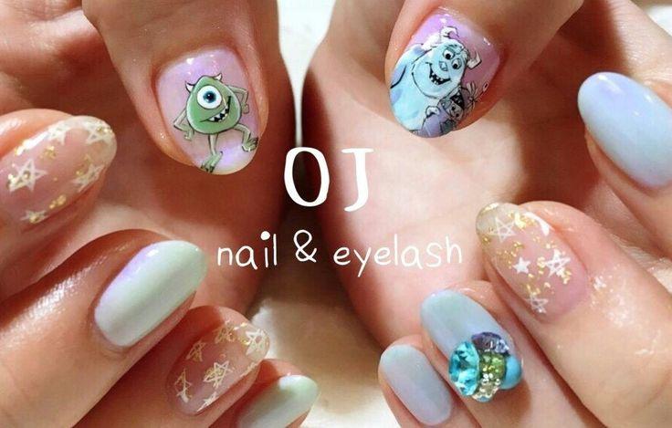 Monsters inc.nail art 😍😍😍😍😍