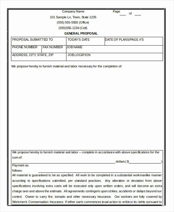 Contractor Proposal Template Word 2020 Proposal Templates