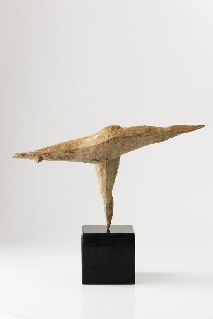 "An original bronze work by Carman Clews entitled ""Balancing Stick, Tuladandasana."" H 37cm.. #Sculpture #Yoga #Zen #InteriorDesign #FineArt #Art #SouthAfricanArt #SouthAfricanArtist #CarmenClews #Transcending #Ego #PinOfTheDay #Bronze #Tuladandasana #Posture For more please visit www.finearts.co.za"