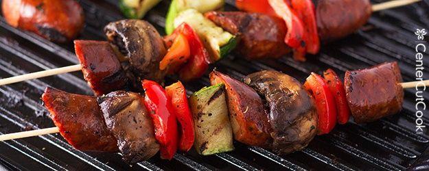 Grilled Sausage Kabob Recipes | Grilled Chicken Sausage Kabobs Recipe