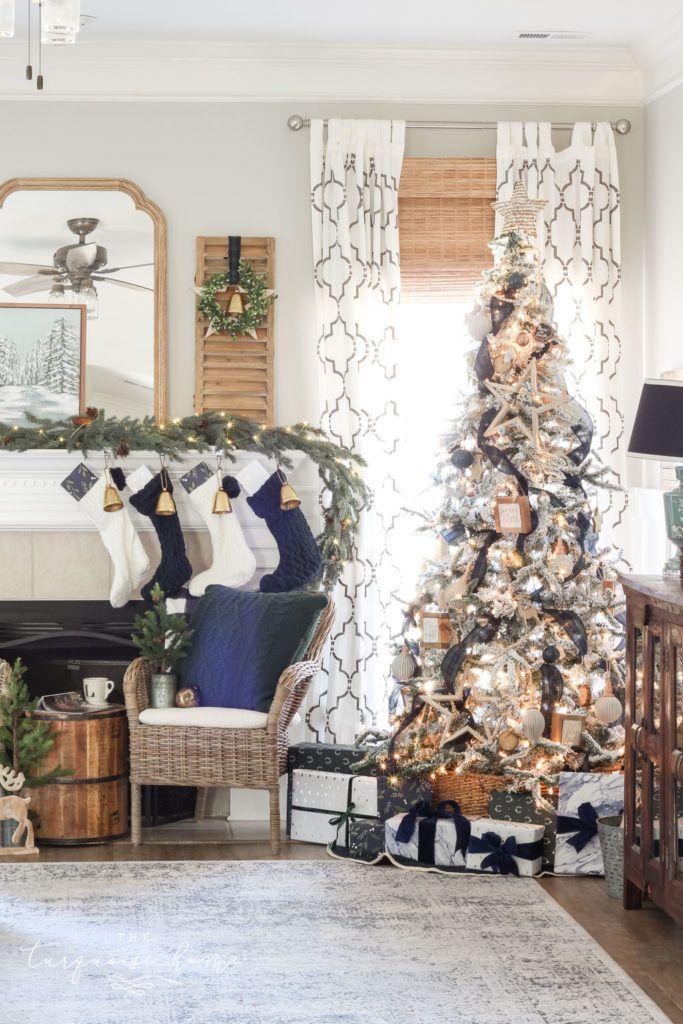 A Farewell Christmas Home Tour Christmas Home Christmas Living Rooms Neutral Christmas Decor