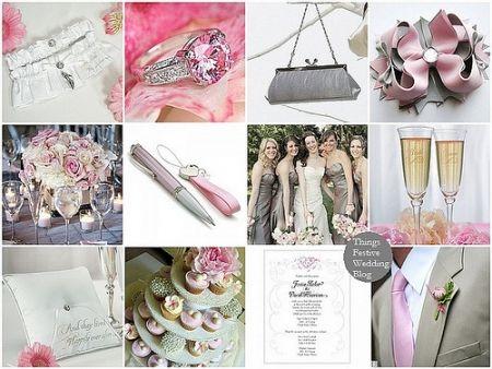 theme rose et gris costume du marié