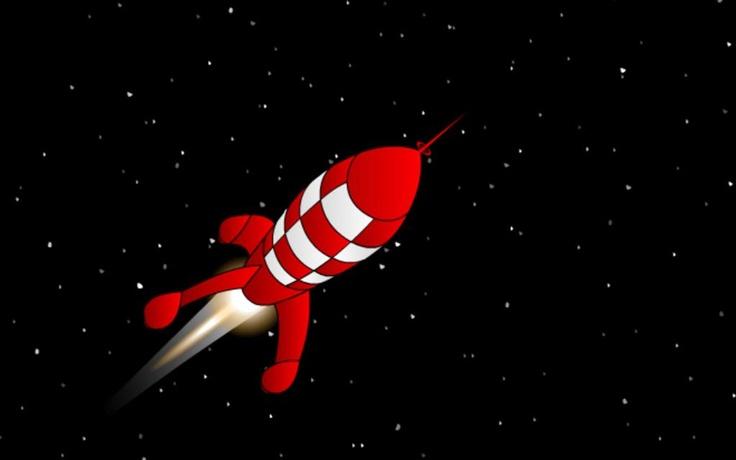 Fus e de tintin rocket tintin pinterest rockets and tintin - Fusee de tintin a colorier ...