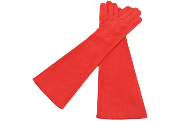 Long leather gloves from alpagloves.com Code: 2-D2H43-3-3 RED