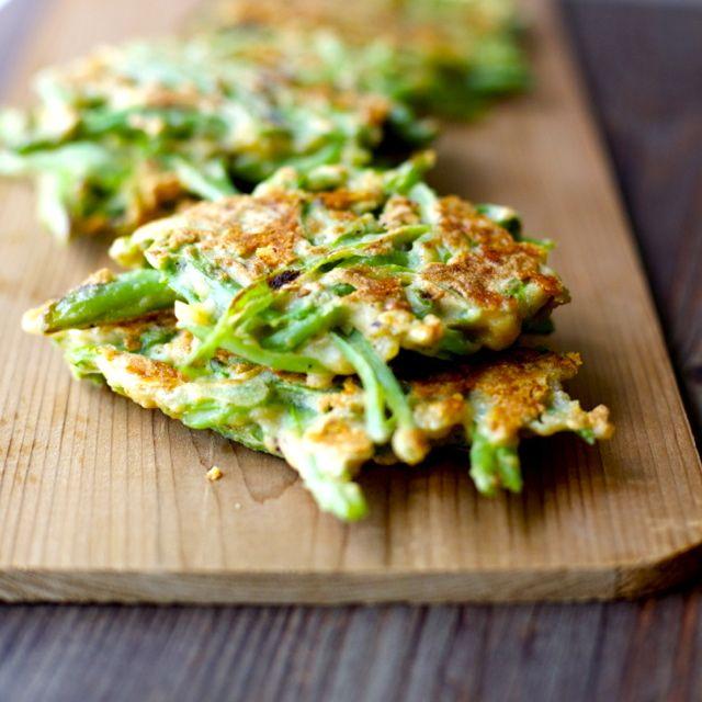 Fritos de porotos verdes