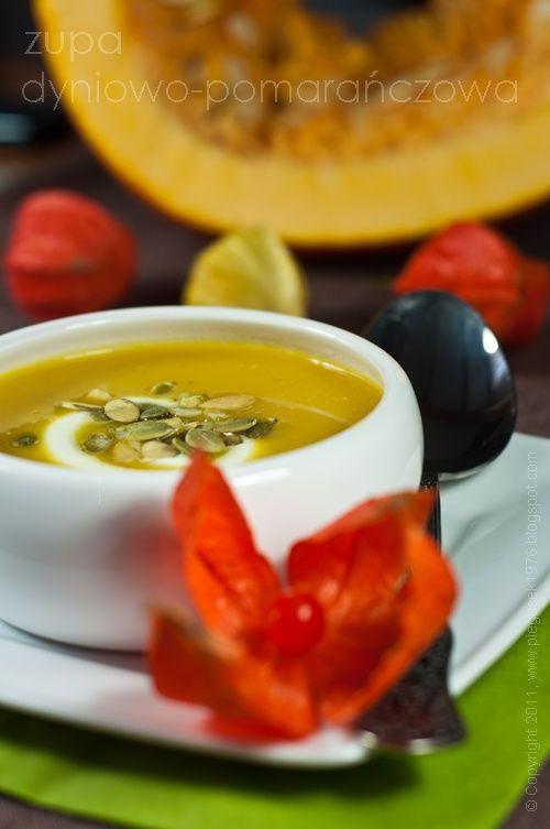 Kremowa zupa dyniowo-pomarańczowa