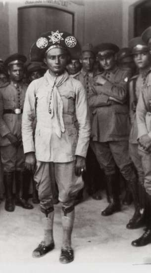 Cangaceiro Pancada após sua captura.