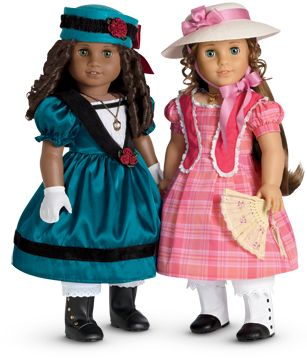 American Girl has me again.  Two new historical dolls (and the usual 6 book series) with girls facing racial barriers in 1853 New Orleans.  I think this will be a great series for K to read in a few years.