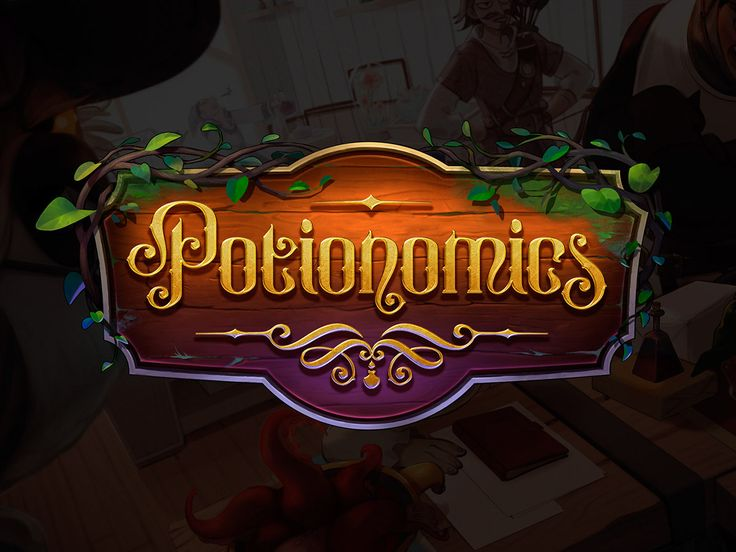 Logo for the video game Potionomics on AIGA Member Gallery