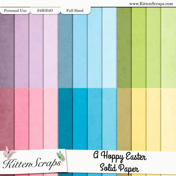 A Hoppy Easter Paper Pack-Solids created by KittenScraps, Digital Scrapbooking