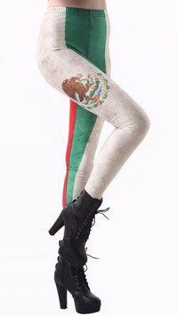 Vlaggen print legging Mexico in een Mexicaanse design. Deze print legging is gemaakt van een soepele stretch kwaliteit voor een comfortabele pasvorm. #kadehandel #trendyleggingsfashion #leggings #vlaggenprint #mexico