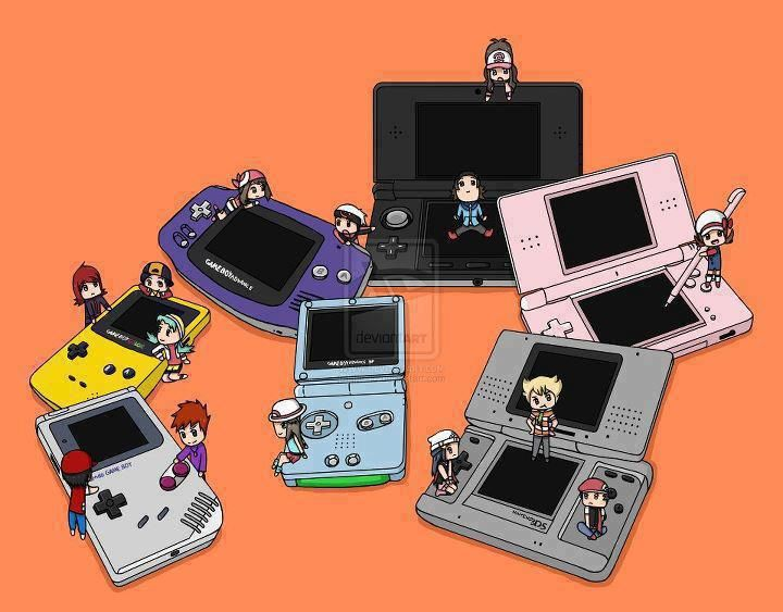 Gameboy, Gameboy Color, Gameboy Advance, Gameboy Advance Sp, Ds, Ds Lite, 3Ds Stopped at SP