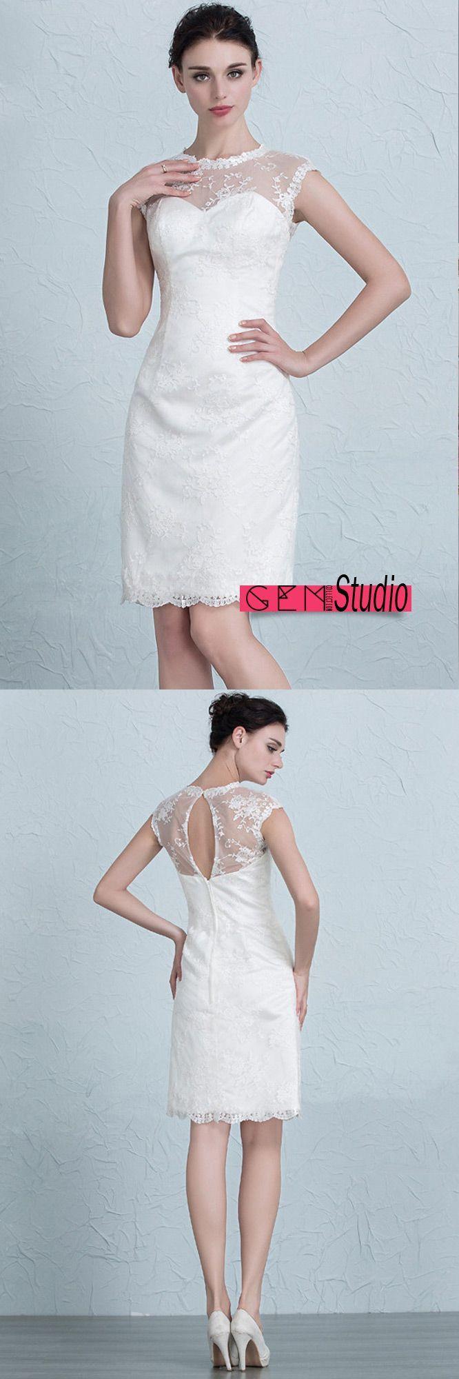 822 best Sweet & Short Wedding Dress images on Pinterest
