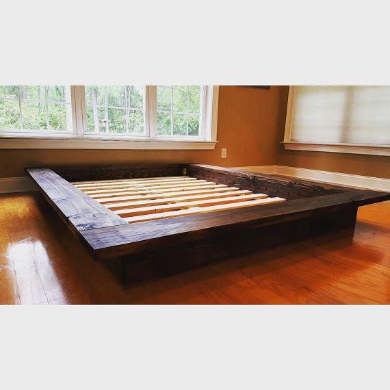 Floating Platform Bed Wide Ledge Bed Loft Bed Low