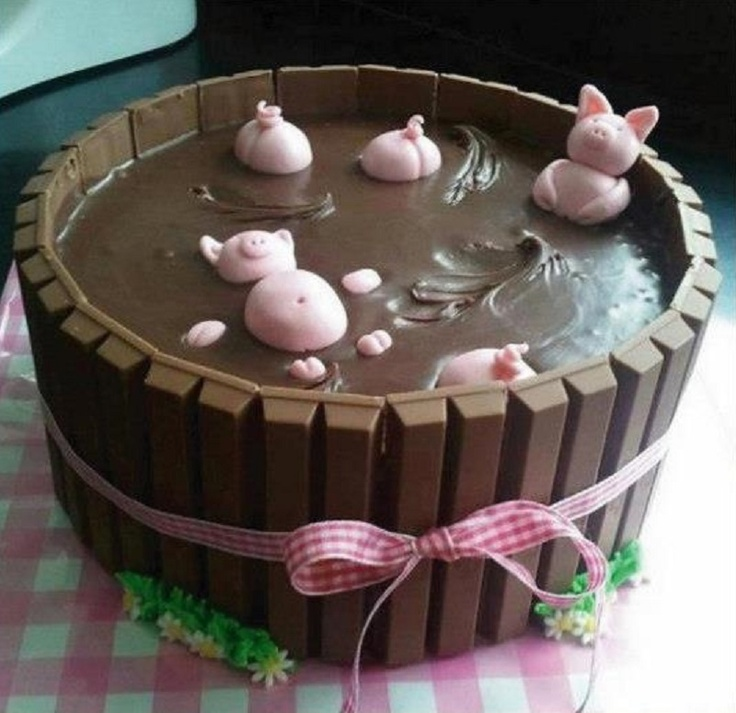 PIGS IN THE MUD CAKE step by step instructions
