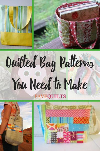 Quilted Bag Patterns You Need to Make