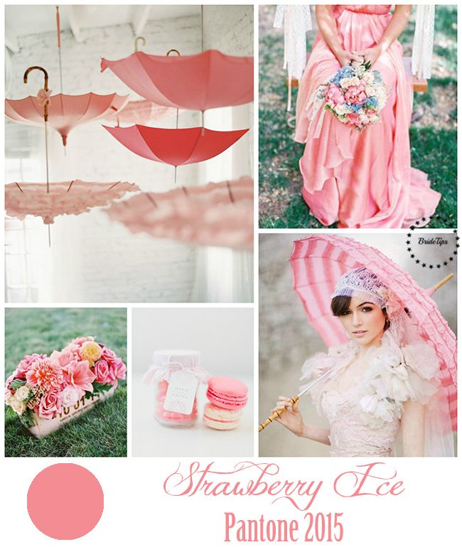 Strawberry Ice - Pantone 2015   more on www.bridetips.ru