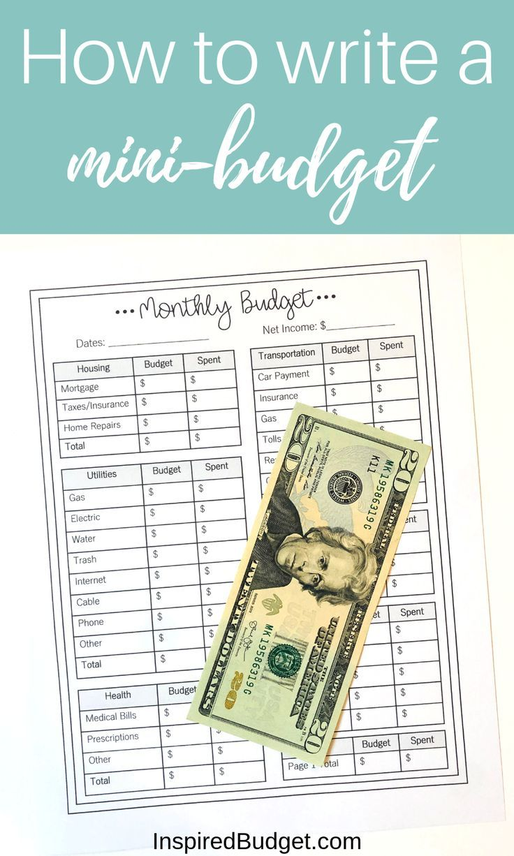 How To Write A Mini Budget Budgeting Budgeting Finances Monthly Budget
