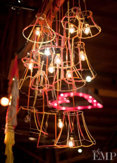 funky lighting fixtures. Wire Frames From Lamp Shades Installation Funky Lighting Fixtures T