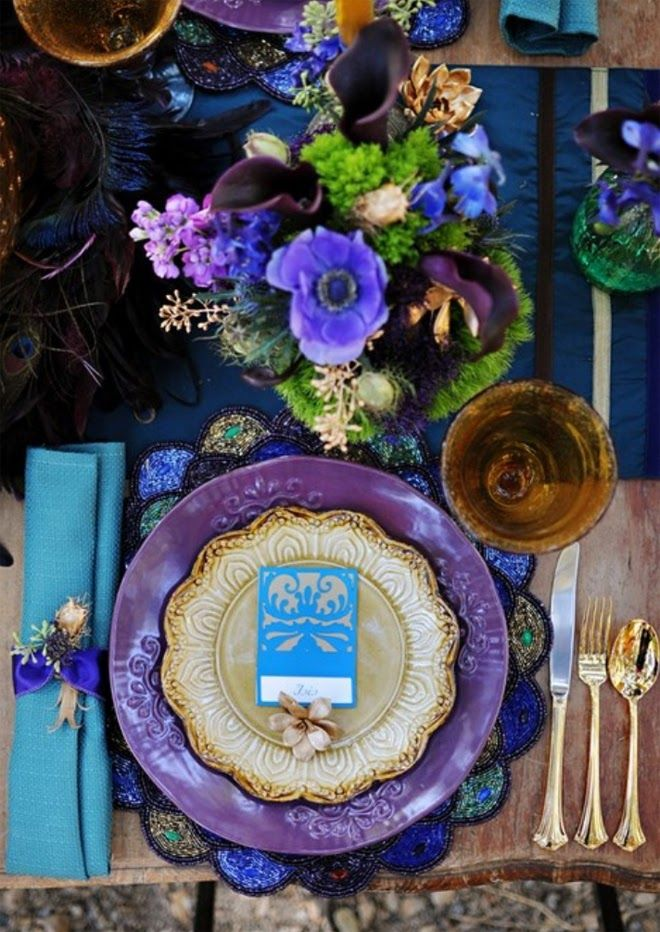 Peacock color scheme ~  Brienne Michelle Photography