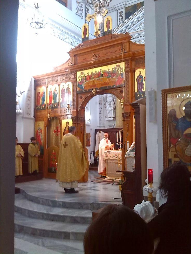 """Liturgia con canti della tradizione bizantina nella Chiesa dell'Annunziata e San Nicolò                Processione dalla Chiesa a """"Biveri"""" ..."""