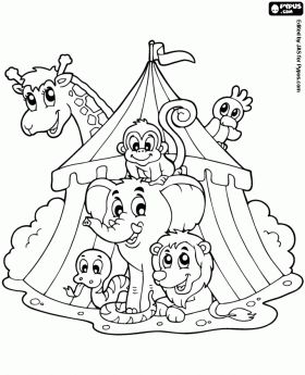 264 best Circus Carnival Carousel Coloring images on Pinterest