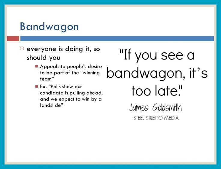 If you see a bandwagon, it's too late - James Goldsmith.  #Business #Success #Goals #Quote