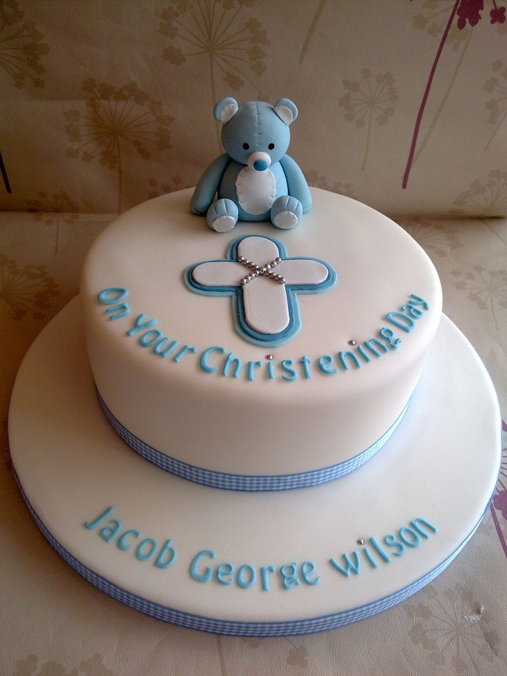 Boys Christening Cake | by Creations By Paula Jane