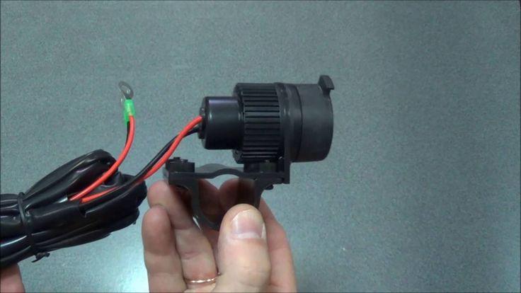 Прикуриватель мото (12V120W, крепление на руль МОТО, водонепроницаемый с...