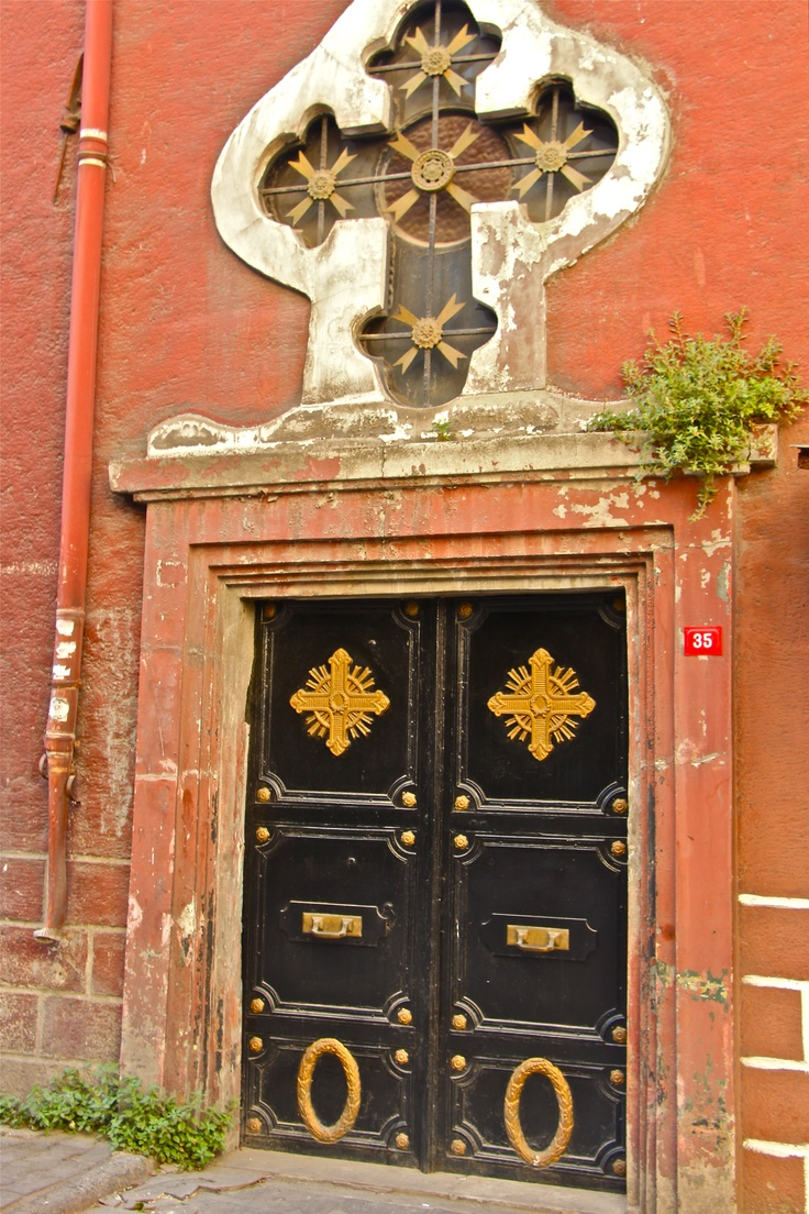 an old door in Karaköy district, ISTANBUL