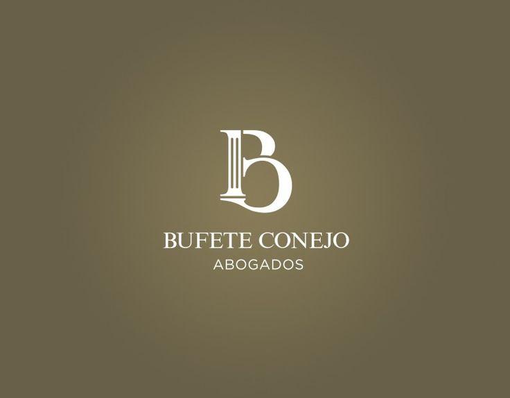 Diseño de logotipos profesionales, logo abogados, logos para abogados como este para Bufete Conejo de Málaga. Logotipo abogados, diseño gráfico y más