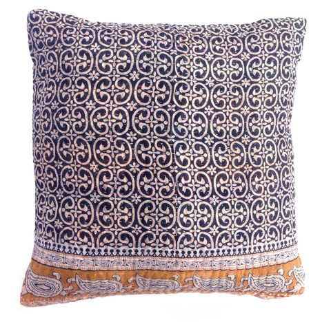 Basha Mono Kantha Cushion