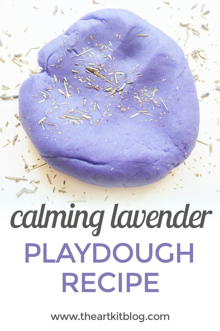 Calming Lavender Playdough Recipe {With Lavender Seed Mix-Ins} via @The Art Kit | Arts and Crafts + Kids Activities