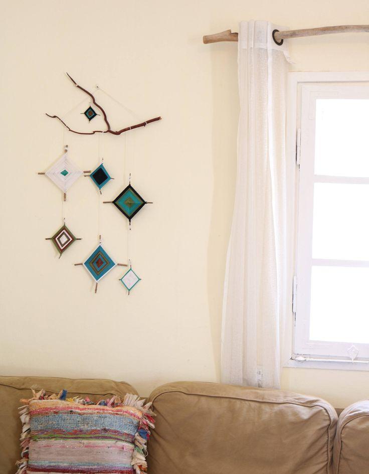 Boho Wall Hanging, Bohemian Wall, Boho Decor, Wall Hanging, Bohemian Mobile  Art, Wall Tapestry, Boho Mobile, Bohemian Decor, Gypsy Decor