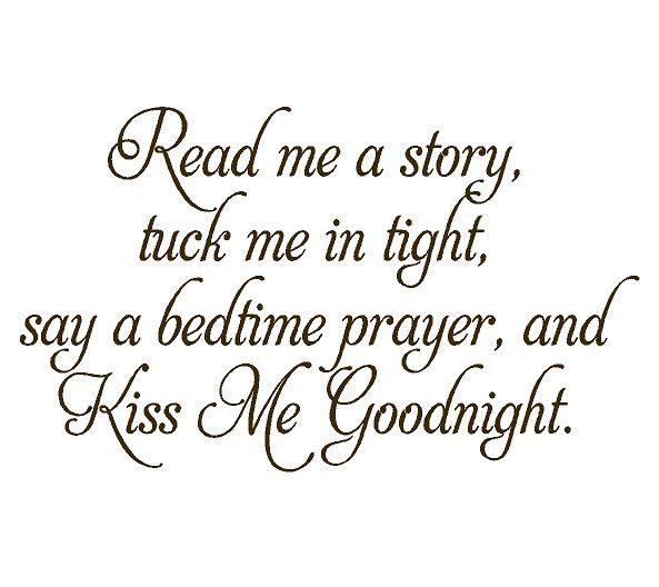 Read Me a Story Baby Nursery Vinyl Wall Decal - Nursery Poem Quote Saying Bedtime Prayer 22H x 36W BA0055. $45.00, via Etsy.