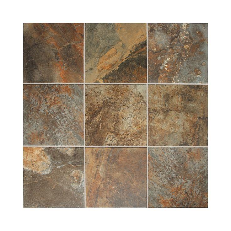 Kitchen Floor Tiles Lowes: Shop American Olean 15-Pack 12-in X 12-in Kendal Slate