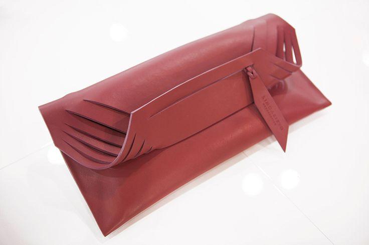 """Design Trendsetter 2015"" contest: Linda Sieto grey leather bag, S/S 2016 collection #lindasieto #bag #designtrendsetter2015"