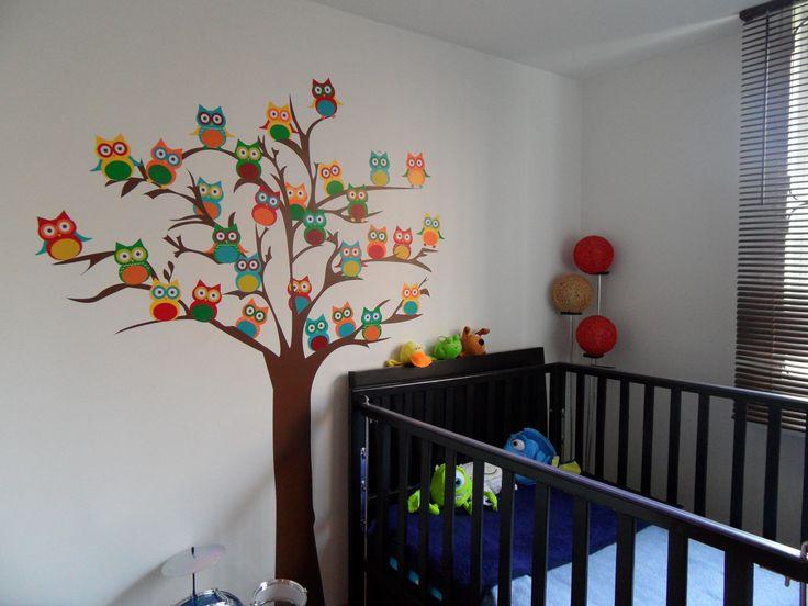 Diseño Arbol de Buhos para habitación de niño. En Bogotá tel. 3176746222 - 4060080. contactanos@gfdecoraciones.com