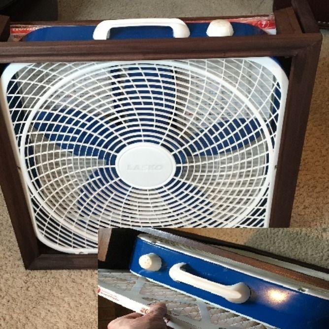 Air purifier filter box fan | Box fan, Fan, Handcrafted wood