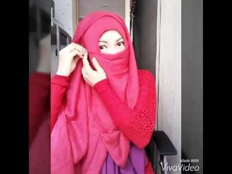 Niqab Tutorial very easy to wear - YouTube
