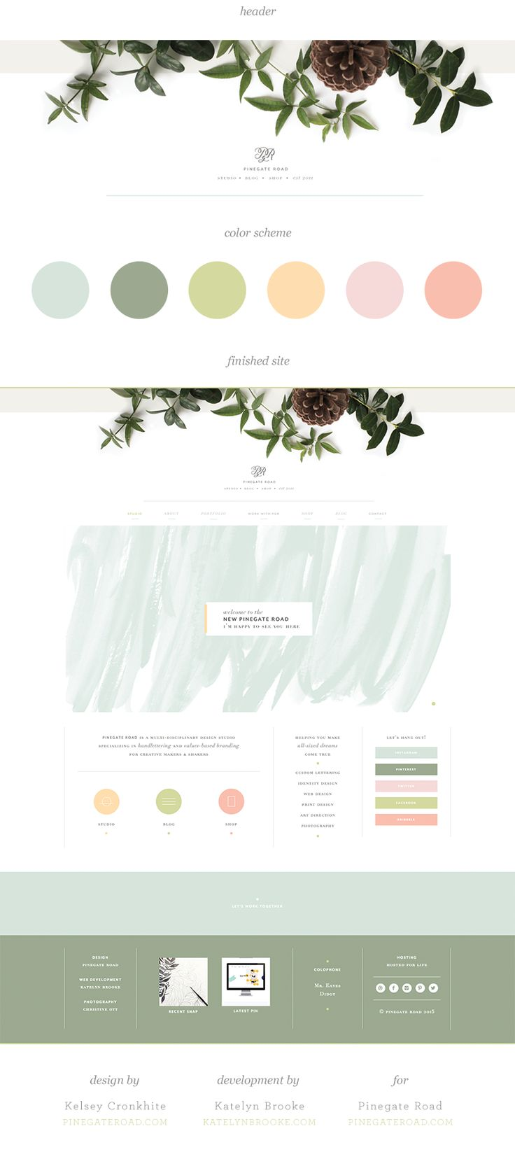 Website soft colors - Pinegate Road Website Designed By Kelsey Cronkhite With Web Development By Katelyn Brooke