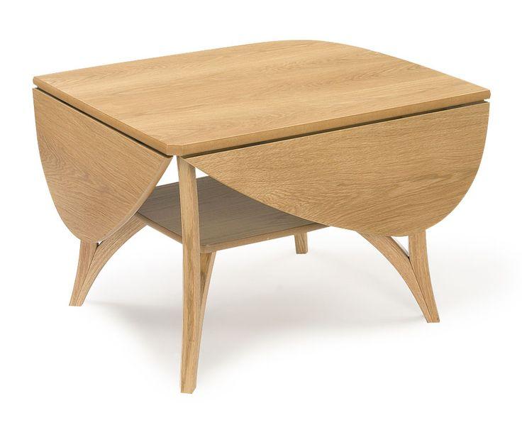 SPINELL Sofabord m/klaffer 110 x 92 cm H: 54 cm. Eik