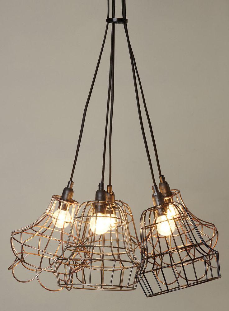 Rex 5 light Cage Cluster - ceiling lights - Home & Lighting - BHS