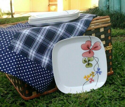 Toalha picnic azul