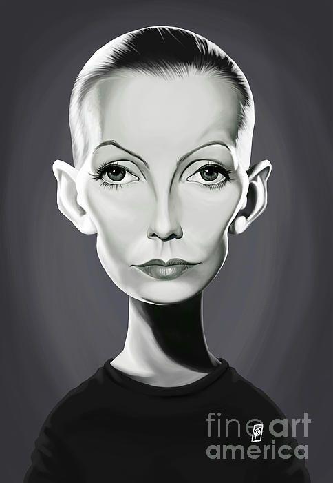 Greta Garbo art | decor | wall art | inspiration | caricature | home decor | idea | humor | gifts