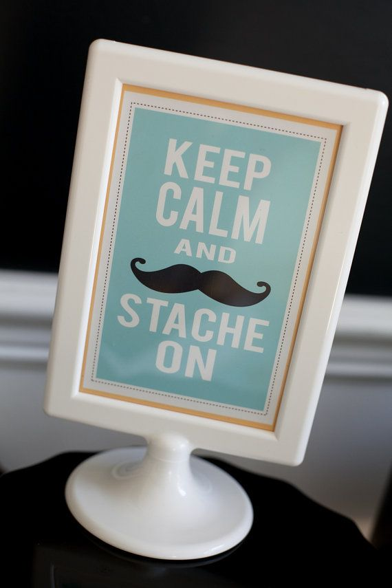 Mustache 4x6 Printable Signs by FrogPrincePaperie on Etsy, $4.00